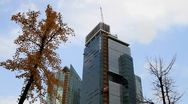 Timelapse of city building construction and clouds Stock Footage