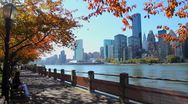NYC skyline in the Fall Stock Footage