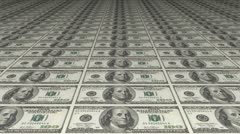 Stock Video Footage of American Dollars Counterfeiting Or Printing, looping