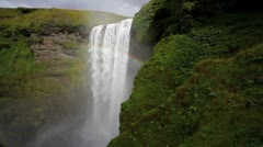Skogafoss waterfall, Iceland, Europe - stock footage