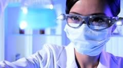 Research Assistant in Hospital Laboratory - stock footage