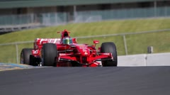 Formula One Race Cars on Track Stock Footage