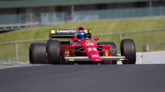 Formula One Race Car on Track, F1 - stock footage