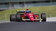 Stock Video Footage of Formula One Race Car on Track, F1