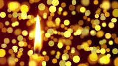 Candle light with bokeh Stock Footage