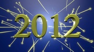 Stock Video Footage of New Year 2012