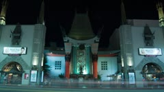 ChineseTheatre Time Lapse - stock footage