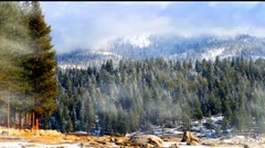 High Sierra Mountains In Winter Stock Footage