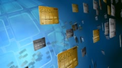 Credit Card Stream Stock Footage