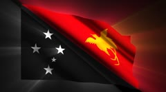 Papua New Guinea Flag Stock Footage