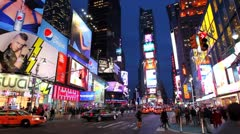 NYC Times Square Time Lapse Stock Footage