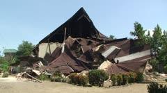 Sumatra Indonesia Earthquake Aftermath Destruction 2009 Stock Footage