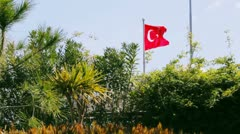 National flag of turkey waving in the wind Stock Footage