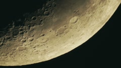 Moon Close View With Telescope - stock footage