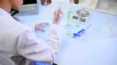 Female Lab Technician Doing Experimental Research Stock Footage