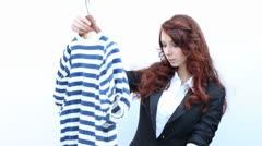 Choosing a dress - stock footage