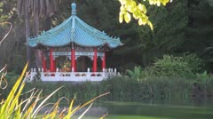 Chinese Pavilion Golden Gate Park Stock Footage