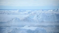 Melting Arctic Ice Floes Stock Footage