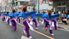 Japanese dancers. Stock Footage