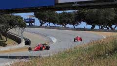 F1 Race Cars at the Track, Formula One - stock footage