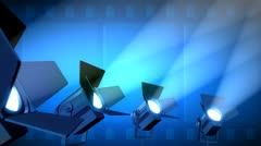 A Row of Spotlights Stock Footage