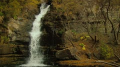 A Waterfall in the forest Stock Footage