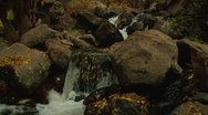 Stock Video Footage of Late Autumn Rocky River