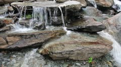 Cascade of waterfall Stock Footage