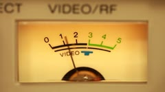 VU Meter - stock footage