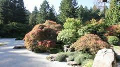Japanese Flat Zen Sand Garden Stock Footage