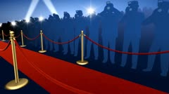 Red Carpet Paparrazi Stock Footage
