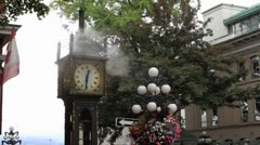 Steam Clock in Historic Gastown Stock Footage