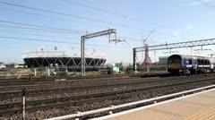 London Olympic Stadium Stock Footage