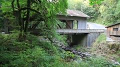 Historic Grist Mill along Cedar Creek in Washington State Stock Footage