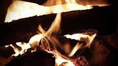 Fireplace Fire with audio Stock Footage