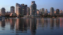 Waterfront Urban Living in Vancouver BC Canada Stock Footage