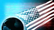 USA Banner Background - USA 11 (HD) Stock Footage