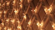 Broadway Theater Marquee Dancing Lights on Ceiling 1080p Stock Footage