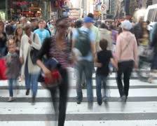 Crosswalk Time Lapse 3 - stock footage