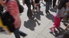 Sidewalk Traffic Time Lapse - stock footage