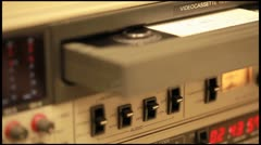 Professional tape recorder Stock Footage