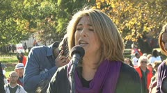 Author - writer Naomi Klein speaks about Occupy Wall Street Stock Footage