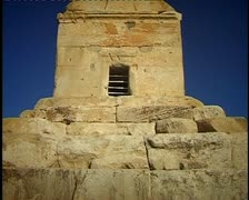 Cyrus tomb 1 Stock Footage
