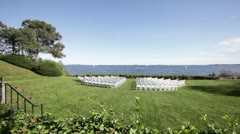 Wedding ceremony ocean front Stock Footage