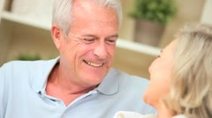 Happy Mature Couple Laughing Together - stock footage