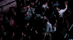 The Club Dance floor Crowd.mp4 Stock Footage