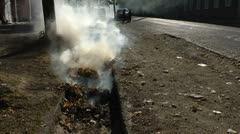 Waste on fire Stock Footage