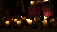 Candles and offerts Stock Footage