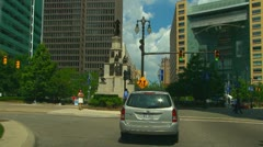 Driving through downtown Detroit - stock footage