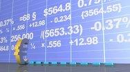 Animated economical data Stock Footage